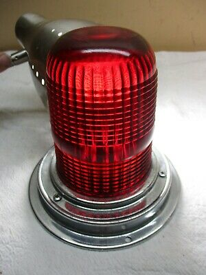 Vintage Yankee #-342 Red Glass Dome Lens Emergency Ambulance Railroad Light