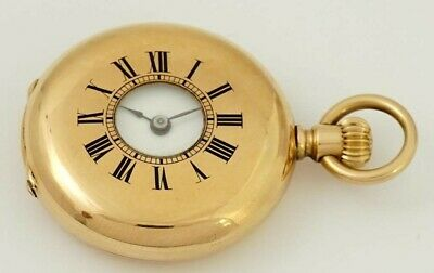 Very Rare Patek Philippe 18k Demi Hunter Case 33mm Pendant Pocket Watch