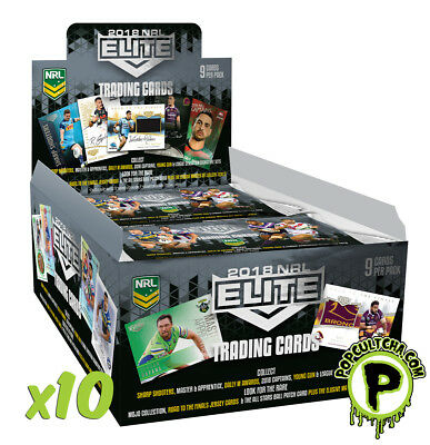 Nrl 2018 Rugby League - Elite Trading Cards Factory Sealed Case (10ct) #new