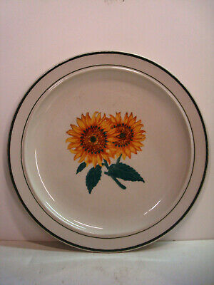 "Gibson Housewares - Sunflower Cottage - 10.5"" Dinner Plates - Set Of 6 - Vintage"
