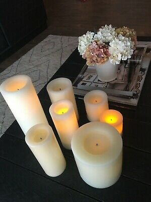 Pottery Barn And Restoration Hardware Flamless Candles. In Great Condition