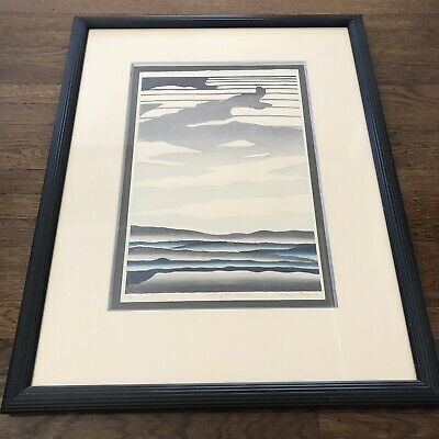 Daryl Howard Woodblock Landscape Art Print Signed 23/100 Lithograph 1985