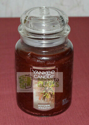Yankee Candle Large Jar Scented Candle, Autumn Wreath 22 Oz Lot Of 4