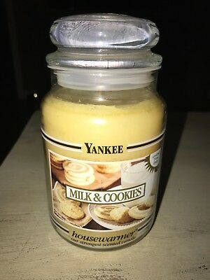 "Yankee Candle ""milk & Cookies"" Limited Time Only Black Band Large Jar Rare Htf"