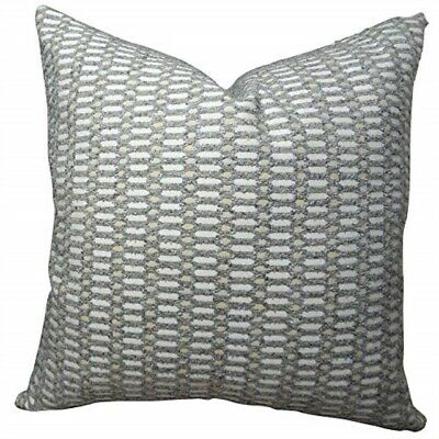"Plutus Brands Plutus Cycle Joiners Handmade Throw Pillow 26"" X 26"" Gray/cream"
