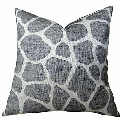 "Plutus Brands Plutus Rocky Way Onyx Handmade Throw Pillow 20"" X 30"" Queen Black"