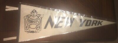Here You Go Yankee Fans! Rare High Grade 1950s New York Yankees Baseball Pennant