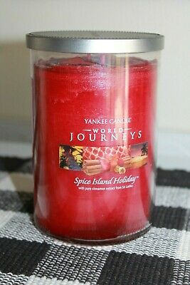 """Yankee Candle World Jouneys """"spiceisland Holiday"""" 2 Wick/ 20oz Candle ~rare~"""
