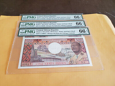 Central African Republic Pick1 Pmg 66 Really Rare This High Grade For One Each