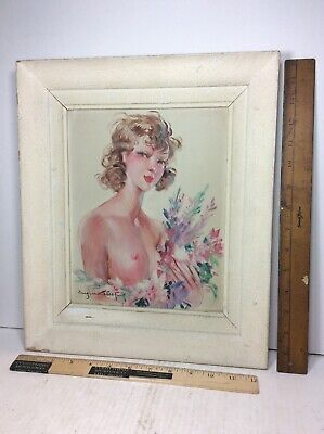 Eugene Lelievre 1856-1945 Madsen Paris French Oil Painting Young Nude Woman Girl
