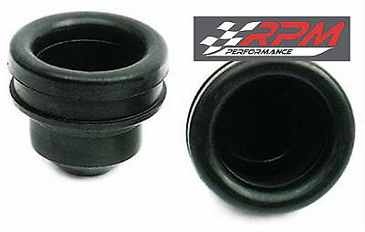 "Chrome Steel Valve Cover Rubber Grommet Plug 1"" Id 1.25 Od Set Of 2 A95"