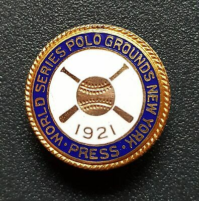 1921 World Series Press Pin-original-first New York Yankee World Series