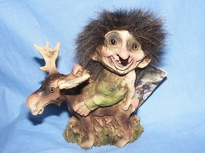 Ny Form Nyform Troll On Moose Norway Collectable Norwegian T203