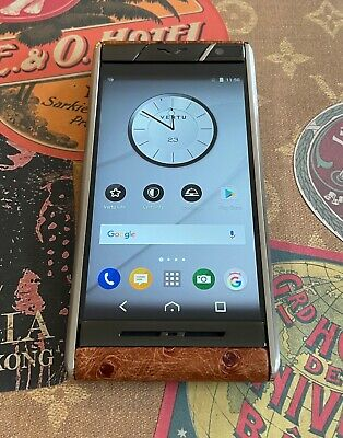 Genuine Vertu Aster Ostrich Leather Extremely Rare Mint Condition Complete