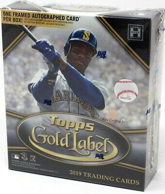 2019 Topps Gold Label Baseball Hobby 16 Box Case Blowout Cards