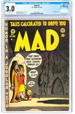 1952 * Mad #1 * E.c. Ec Comics * Cgc 3.0 Gd/vg * Off White Pages * First Satire