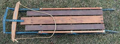 Vintage C 1970 Wooden Flexible Flyer Snow Sled Yankee Clipper Power Steering-60""