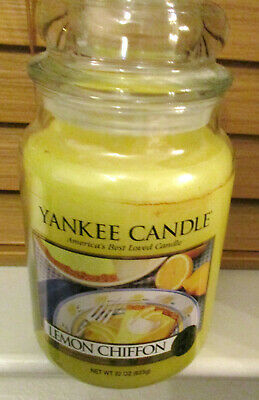 Yankee Candle Lemon Chiffon  22 Oz Large Jar ~~ Very Rare & Very Hard To Find!