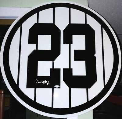⚾ Don Mattingly Signed Full Size Retired Number Yankee Stadium Judge Mantle Ruth