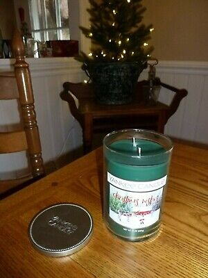 """Yankee Candle Retired """" Christmas Wishes """"  Large 22 Oz ~ Rare ~ New"""