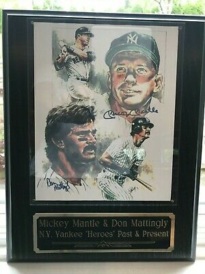 """Mickey Mantle & Don Mattingly Autographed """"12x15"""""""
