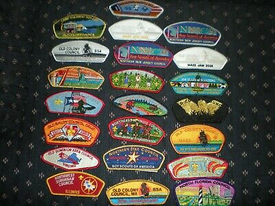 22  Boy Scouts Usa Council Shoulder Strips  Very Cheap  Sold As One Item