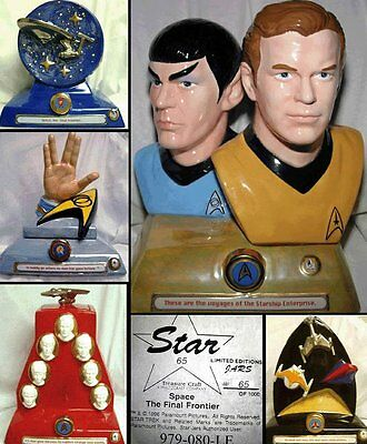 5 Star Trek Set Of Cookie Jars Unique Museum Quality Highly Collectible - New