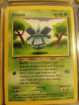 Pineco 61/75 - Common Pokemon Card - Neo Discovery Set - Wizards of the Coast