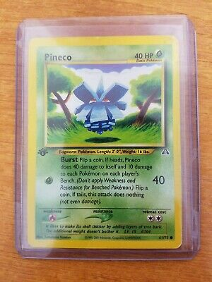 Pokemon Cards Pineco 61/75 1st Edition Common Neo Discovery Light Play Cond