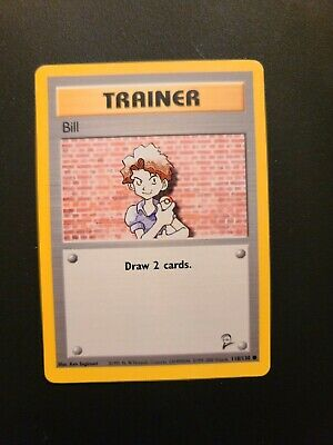 Bill - Trainer - Base Set 2 NM Condition. Pokemon