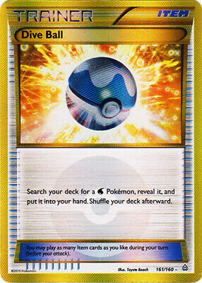 1x Dive Ball - 161/160 - Secret Rare NM-Mint Pokemon XY - Primal Clash