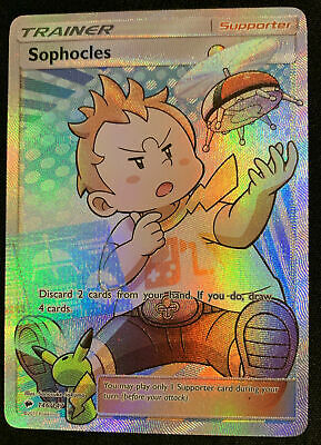 Sophocles Pokemon Card Full Art Ultra Rare SM-Burning Shadows