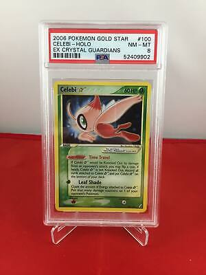 Celebi Gold Star - EX Crystal Guardians - PSA 8 NM-MT 52409902 Graded Pokemon Ca