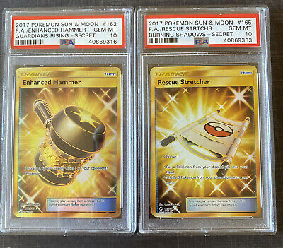 Pokemon Enhanced Hammer Guardians Rising PSA 10 And Rescue Stretcher PSA 10