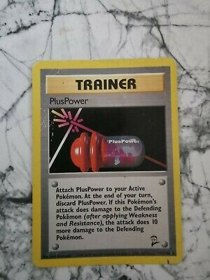 Pokemon Vintage Collectable Cards Base Set 2 2000 Trainer Pluspower 113/130...