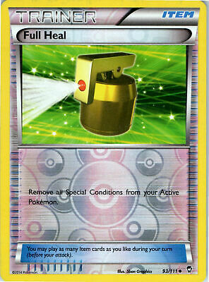 2014 Furious Fists Full Heal 93/111 Reverse Holo Pokemon Trainer Trading