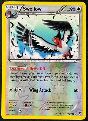 2014 Pokemon Card Swellow XY 103/146 EXCELLENT Reverse Holo
