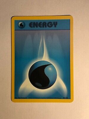 Pokemon Base set Unlimited Water Energy 102/102 Excellent condition