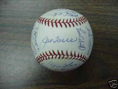 2000 Yankee World Series Ball Autographed