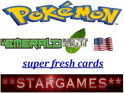 Pokemon Ex Emerald (◕‿◕✿) Cards Mint Super Fresh Straight From Booster Choose
