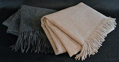 Downtown Company Alpaca Wool Throw Blanket Afghan With Fringe Home Decor Nwt