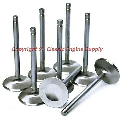 """New Stainless Steel 2.08"""" +.100 Long Intake Valve Set Chevy Sb 400 350 327"""