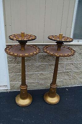 """+ Old Vintage Large Votive Candle Stand + 51"""" Ht. (2 Are Available) Chalice Co."""