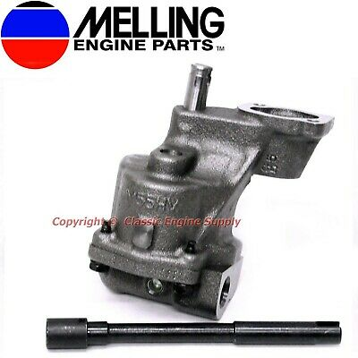 New Melling Hv Oil Pump & Shaft Some Chevy V6 & V8 400 350 327 307 305 283 267