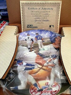 """Yankee Tradition Sports Impressions Gold Edition 10"""" Plate W Coa Special Price"""