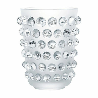 Lalique Mossi Vase, Clear