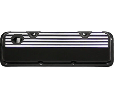 Rpc S7639 All Fins Aluminium Valve Covers Ford 351 Cleveland Baffled W/hole Blac
