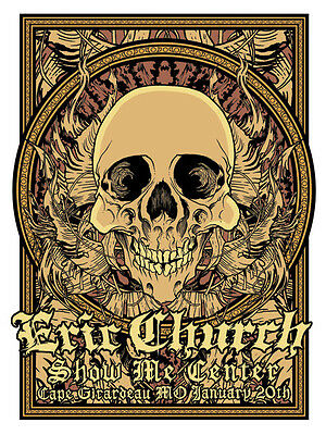Eric Church 1/20/2012 Poster Cape Girardeau Mo Signed & Numbered #/250.