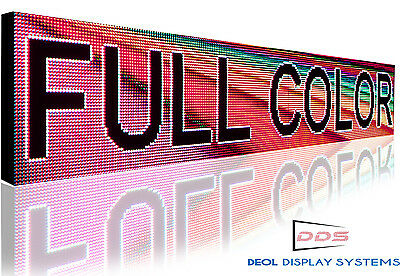 """13"""" X 114"""" Outdoor 10mm Scrolling Text Image Logo Display Open Led Shop Bar Sign"""
