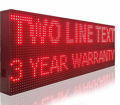 """Programmable Led Sign 20"""" X 114"""" Red Bright Graphic Scrolling Message Display"""